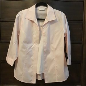 Chico's Pastel Pink Button Down Shirt (Size 1)
